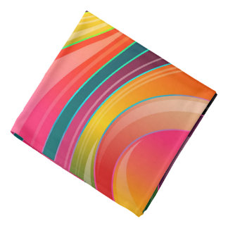 Trendy Multi Color Abstract Whirl Design Bandana