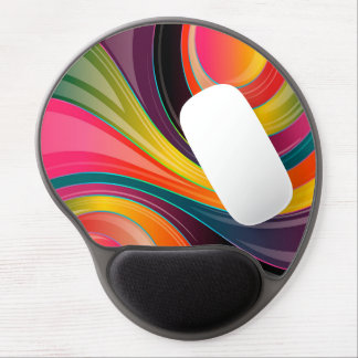 Trendy Multi Color Abstract Whirl Design Gel Mouse Pad