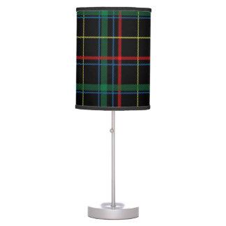 Trendy Multicolored Plaid Table Lamp