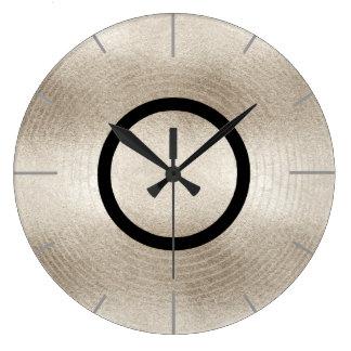 Trendy Music Platinum Record Disc Large Clock
