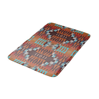 Trendy Native American Indian Tribal Pattern Bath Mat