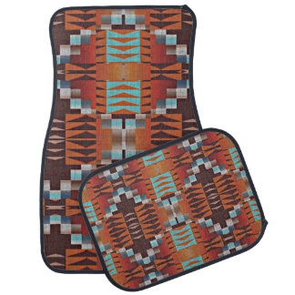 Trendy Native American Indian Tribal Pattern Car Mat
