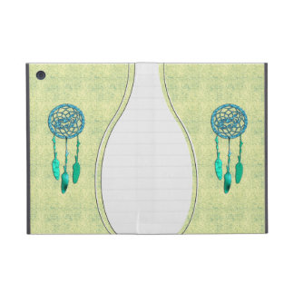 Trendy Native American Wolf Dreamcatcher Cases For iPad Mini