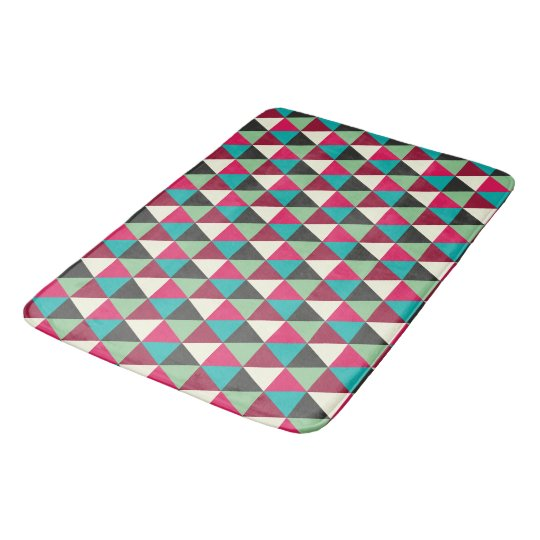 Trendy Native Southwestern Triangles Pattern Bathroom Mat