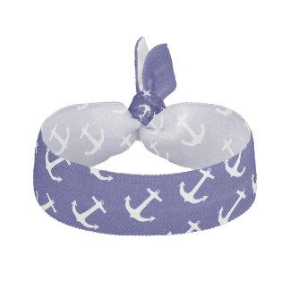 Trendy Nautical Anchor Pattern Hair Tie