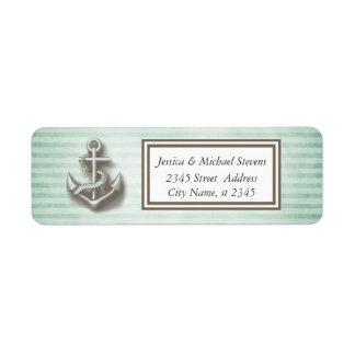 Trendy nautical anchor vintage narrow stripes