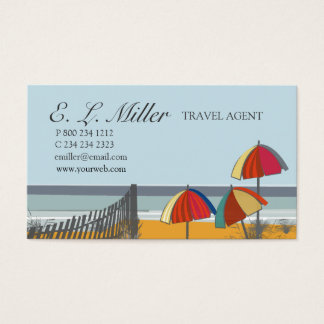 Trendy Nautical Ocean Beach Travel Agent Business Card