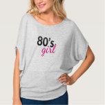 Trendy Nostalgic black & pink 80's girl tee