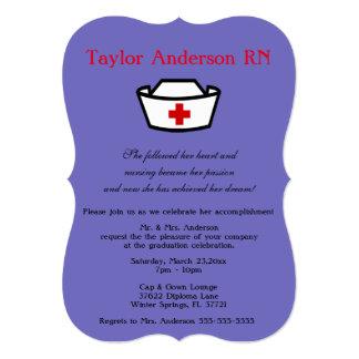 Trendy Nursing School Graduation Announcement