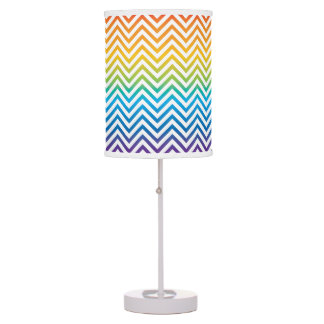 Trendy Ombre Rainbow Chevron Stripes Lamp