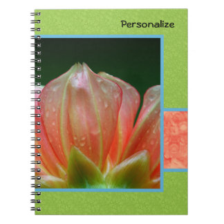 Trendy Orange Flower Petals With Name Notebooks
