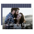TRENDY OUR ADVENTURE BEGINS PHOTO SAVE THE DATE CARD