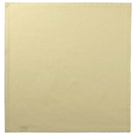 Trendy Pale Yellow Solid Colour Napkin