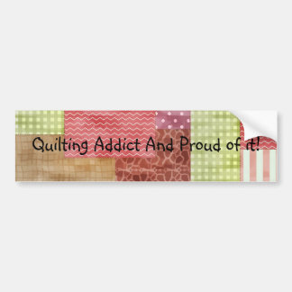 Trendy Patchwork Quilt Bumper Sticker