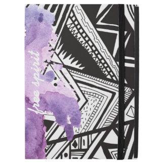 Trendy pattern Purple Splash iPad case