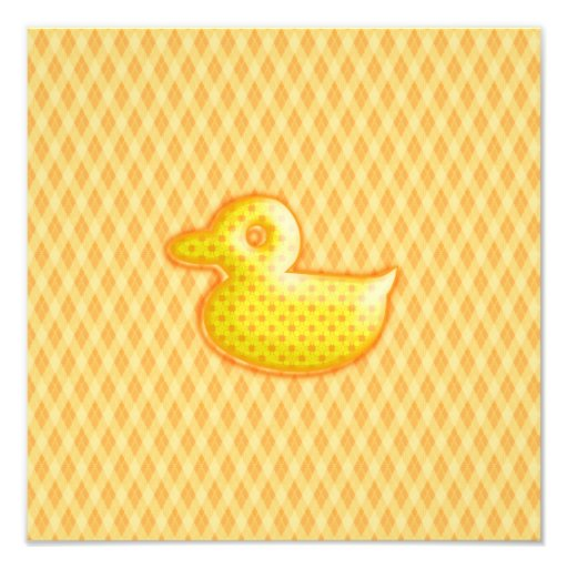 Trendy Patterned Rubber Ducky Photo Print
