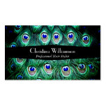 Trendy Peacock Feathers Business Card Template