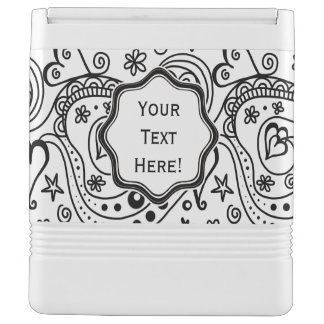 Trendy Personalized Hearts and Love Doodle Pattern