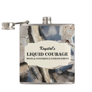 Trendy Personalized Liquid Courage Flask