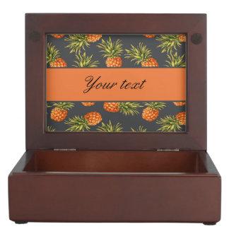 Trendy Personalized Pineapple Keepsake Box