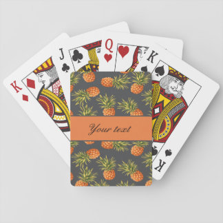 Trendy Personalized Pineapple Playing Cards