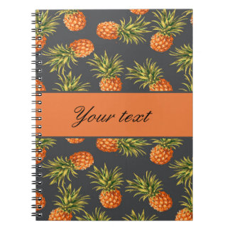 Trendy Personalized Pineapple Spiral Notebook