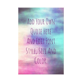 Trendy personalized quote canvas print