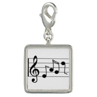 Trendy Photo Charm Bracelet Music Notes
