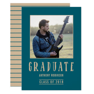 Trendy Photo Graduation Announcement