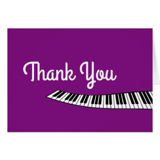 Trendy Piano Keyboard, Musical, Thank You Card