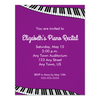 Trendy Piano Keyboard, Piano Recital Invitation