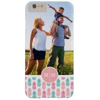 Trendy Pineapple | Add Your Photo & Monogram Barely There iPhone 6 Plus Case