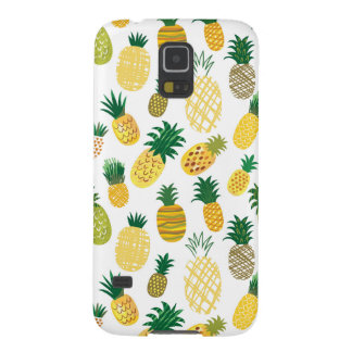 Trendy Pineapple Pattern Case For Galaxy S5