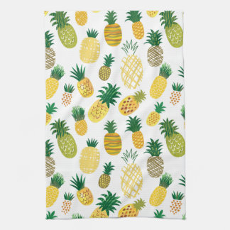 Trendy Pineapple Pattern Kitchen Towel
