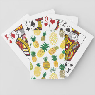 Trendy Pineapple Pattern Playing Cards