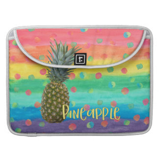 Trendy Pineapple Rainbow Stripes and Dots Sleeve For MacBooks