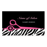 Trendy Pink and Black Zebra Hair Salon Scissors