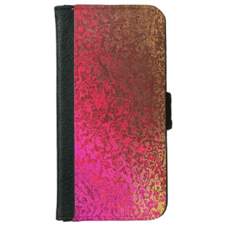 Trendy Pink and Gold Shimmer iPhone 6 Wallet Case