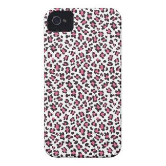Trendy pink black cheetah print blackberry bold iPhone 4 covers