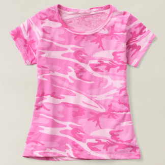 Trendy Pink Camouflage T-Shirt