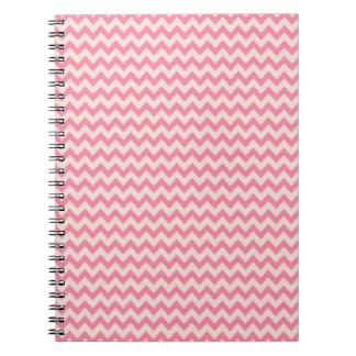 Trendy Pink Chevron Stripe Spiral Notebooks