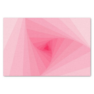Trendy Pink Color Gradient Spiral Geometric Tissue Paper