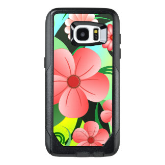 Trendy Pink Hibiscus Floral Tropical Flower Design OtterBox Samsung Galaxy S7 Edge Case