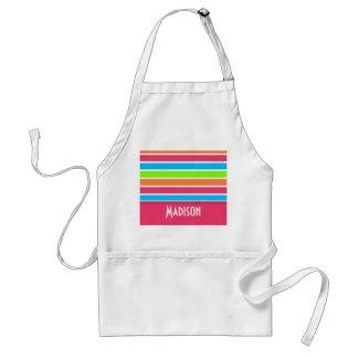 Trendy Pink ; Retro Neon Rainbow Aprons