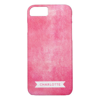 Trendy Pink Rolled Ink iPhone 8/7 Case