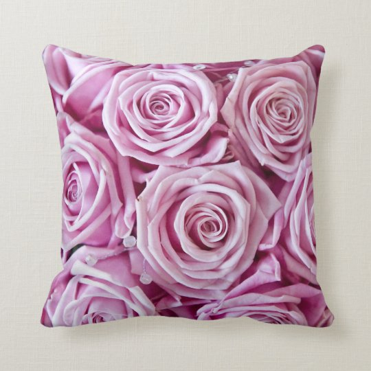 Trendy Pink rose pillow cushion
