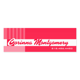 Trendy Pinstripes Social Calling Card Mommy Business Cards