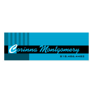 Trendy Pinstripes Social Calling Card Mommy Business Card Templates