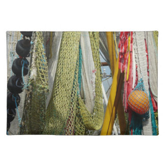 Trendy Placemat  abstract beach fishing nets