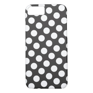 Trendy Polka Dot Pattern - black and white iPhone 8/7 Case